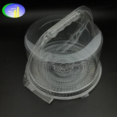 New design universal birthday cake clear PET container with handle