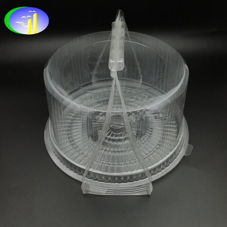 新款PET带提手塑料蛋糕盒 2