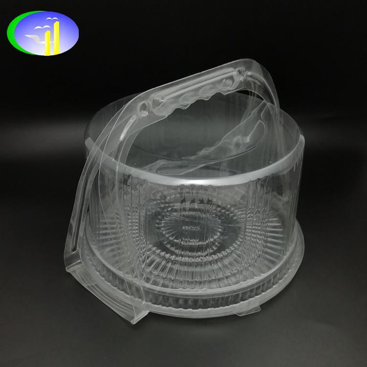 新款PET带提手塑料蛋糕盒 3