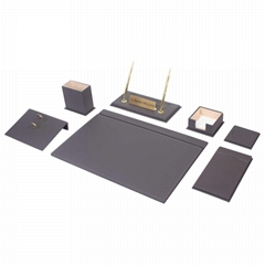 Leather Desk Set 9 Pieces - By Guner Ofis - Made in Turkey