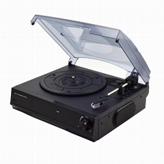 Factory supply compact design cheap gramophone record player vinyl turntable wit