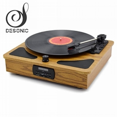 Factory supply wooden gramophone record Player vinyl turntable