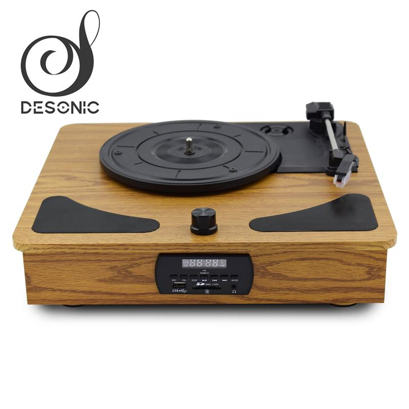 Factory supply wooden gramophone record Player vinyl turntable 2