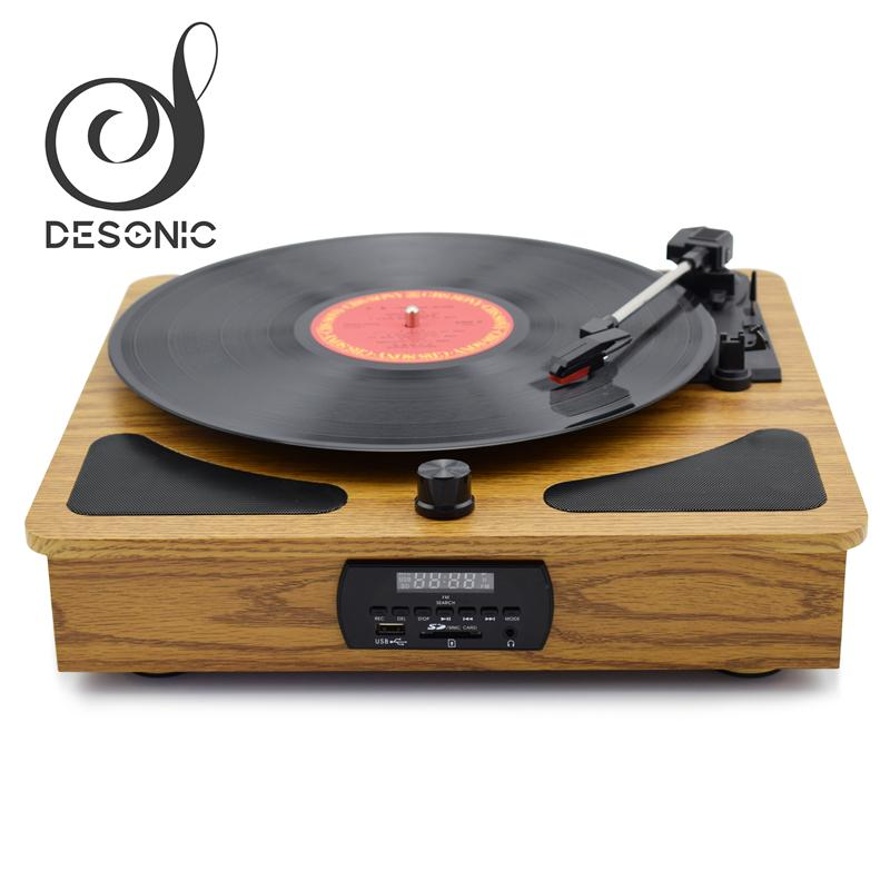 Factory supply wooden gramophone record Player vinyl turntable 3