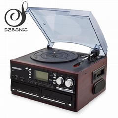 ALL IN ONE MUCIS CENTER DUAL CD VINYL RECORD PLAYER