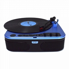 2019 Brandnew design portable USB SD Bluetooth play gramophone record player
