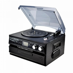 2019 hot sale factory supply multi media LP Vinyl player with USB SD recording&
