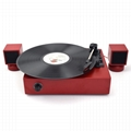 mini bluetooth gramophone record player vinyl turntable with external speakers