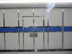 内活动隔墙优质折叠滑动活性铝框架