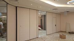 免费设计铝框临时隔断墙折叠板门用于酒店分隔