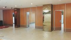 酒店餐厅自由设计悬挂式推拉门活动隔墙