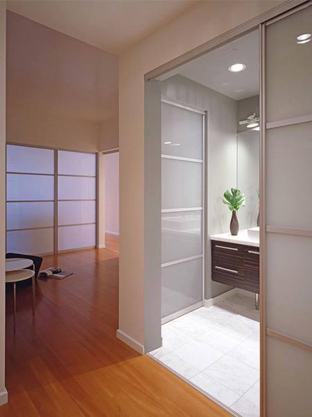 免费设计可移动隔断优雅的隔墙内部滑动门 4