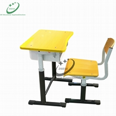 Adjustable school desk and chair classroom furniture