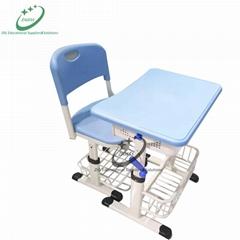 hand crank adjustable school desk and chair classroom furniture
