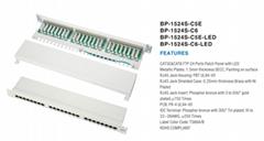 24口屏蔽配线架cat5e cat6带LED