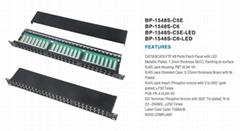 48口屏蔽配线架cat5e cat6带LED