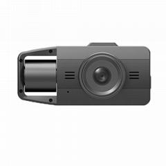 360-degree three recording starlight night vision dashcam