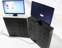 晶固(17-24英吋)液晶屏顯示器昇降器電動會議桌隱藏式