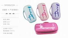 长颈鹿系列男帆布小学生大容量铅笔袋韩国多功能创意文具盒儿童