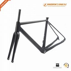 Full Carbon Fiber Gravel Bike Frame thru-axle 700x38C