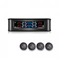 Hot Sale Smart Wireless Solar-powered Tire Pressure Monitor System TPMS External 2