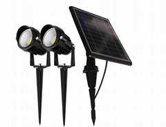 outdoor solar spotlight