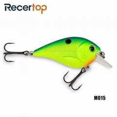 Recertop Small Loud Rattle Bright Color Floating Square Bill Fishing Lure
