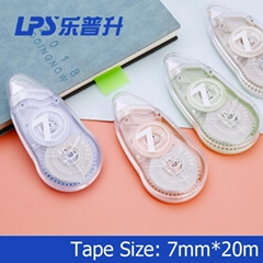Eco-friendly Correction Tape OEM Fashionable Stationery Colored Plastic 7MM Widt