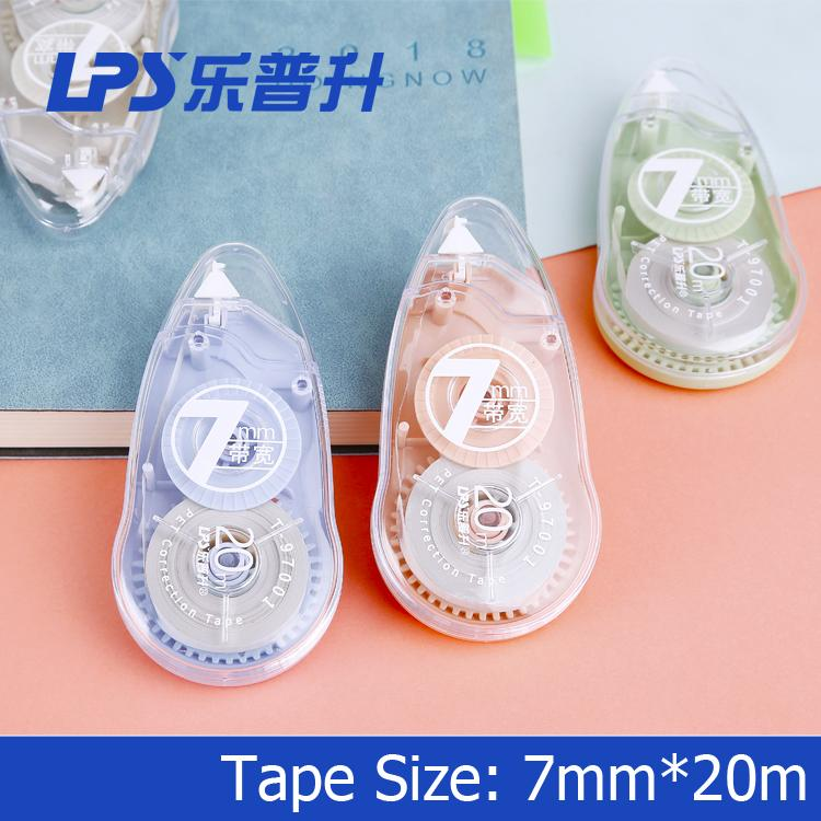 Eco-friendly Correction Tape OEM Fashionable Stationery Colored Plastic 7MM Widt 2