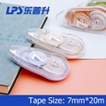 Eco-friendly Correction Tape OEM Fashionable Stationery Colored Plastic 7MM Widt 3