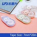 Eco-friendly Correction Tape OEM Fashionable Stationery Colored Plastic 7MM Widt 4