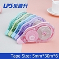 Large Capacity Correction Tape 5 Piece In One Blister Card Big Comfortable Color 3