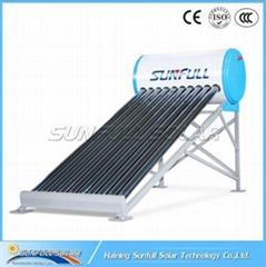 100L non pressure vacuum tube solar water heater