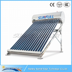 150L non pressure stainless steel solar water heater