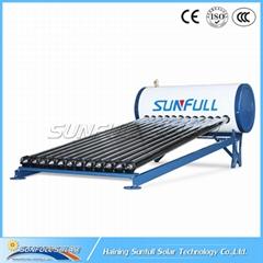 120L integrate pressurized heat pipe solar water heater