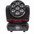 7pcs*10W RGBW 4 in 1 LED Moving Head