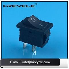 Black 12V ON-OFF 2 Position KCD Mini Rocker Switch