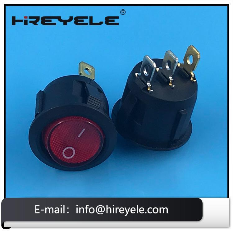 2Pin On Off Miniature 12V Round Rocker Switch 5