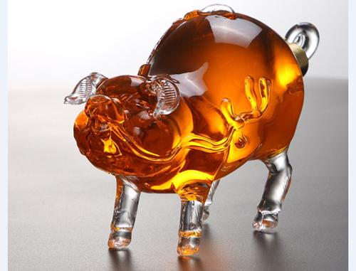 动物造型玻璃工艺酒瓶  1
