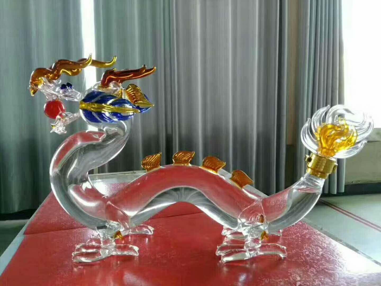 动物造型玻璃工艺酒瓶  3