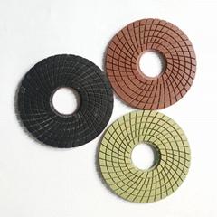 Diamond flexible wet polishing pads granite polishing buff disc