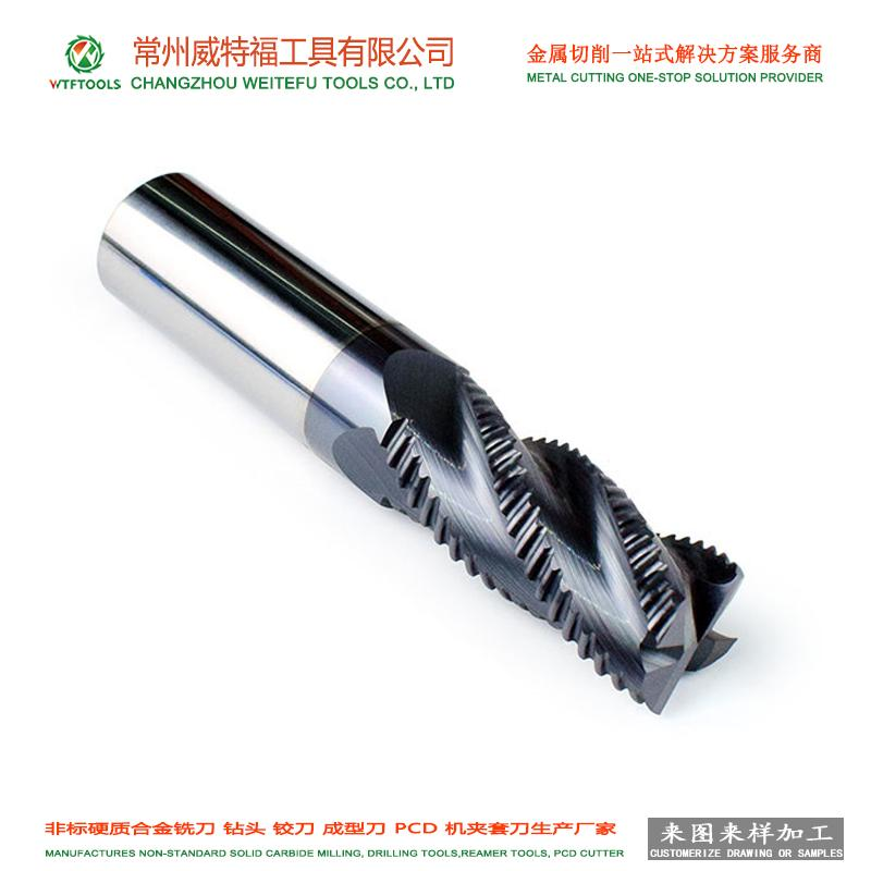 wtftool customized solid carbide composite end milling cutter for woodworking 5