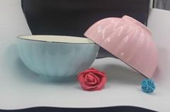 New Bone China Embossed bowl with glazed
