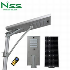 60w all in one integrated solar street light lamp