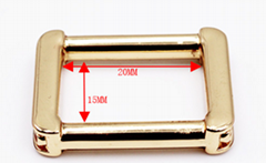 Custom Simple Style Gold Light Square Bag Buckle Metal Bag Accessories