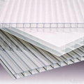 4mm 2100*5800mm clear polycarbonate multi-layer sheet PC hollow sheet  1