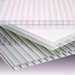 4mm 2100*5800mm clear polycarbonate multi-layer sheet PC hollow sheet