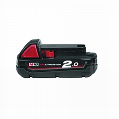 Aftermarket Milwaukee battery–Milwaukee M18B2