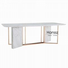 Wholesale home decoration marble dining table Marble table dining table