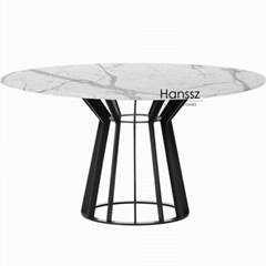 Popular marble dining table top column shape carrara marble dining table tops